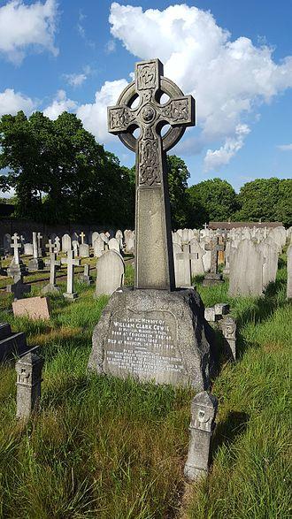 Charlton cemetery - Memorial to William Clark Cowie, in Charlton cemetery