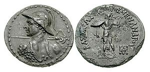 Milinda Panha - Coin of Menander I