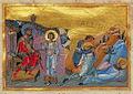 Menas, Hermogenes and Eugraphus of Alexandria (Menologion of Basil II).jpg