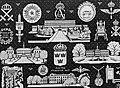 Merklap geborduurd door Koning Ingrid van Denemaken met vermoedelijk als onderwe, Bestanddeelnr 252-9267.jpg