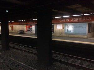 Giulio Agricola (Rome Metro) - Image: Metro A Giulio Agricola