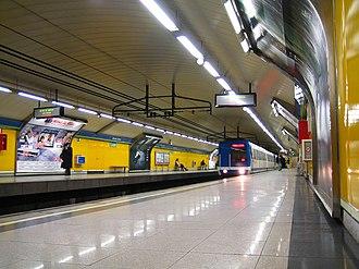 Rubén Darío (Madrid Metro) - Image: Metro Madrid Rubén Darío station