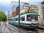 Metrolink tram at St Peter's Square station.jpg