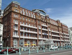 Metropole Hotel, King's Road, Brighton (from SSW).JPG