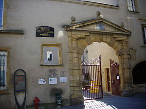 Antoine Charles Louis de Lasalle - Entrance of Lasalle's birth house in Metz.