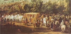 Einzug Ludwigs XIV. und Maria Theresia in Arras (Juli 1667)