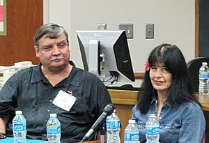 Michael Wallis - Michael Wallis with Joy Harjo in 2010