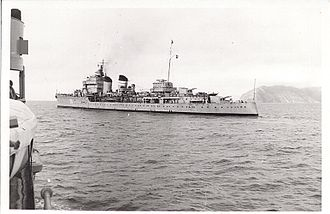Miguel Buiza Fernández-Palacios - Cruiser ''Miguel de Cervantes'', the ship on which Miguel Buiza left Cartagena for Bizerte leading the remnant of the Spanish Republican Armada in March 1939.