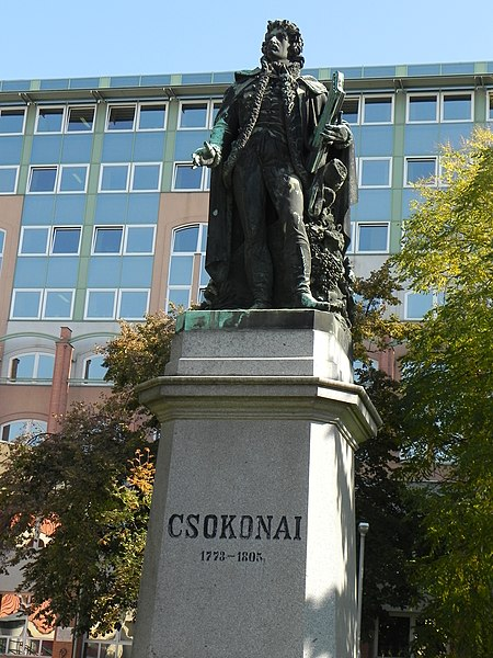 File:Mihály Csokonai Vitéz by Miklós Izsó, 2010-10-14 DebrecenDSCN0221.jpg