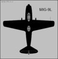 Mikoyan-Gurevich MiG-9L plan view silhouette.png