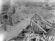 Mine crater in Athies April 1917 IWM Q 1941