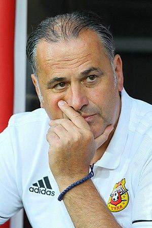 Miodrag Božović - Božović coaching Arsenal Tula in 2017