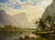 Mirror Lake, Yosemite Valley oil 1864 Albert Bierstadt.jpg