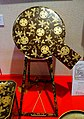 Mirror stand, wedding item of Yo-hime, daughter of 11th Tokugawa Shogun Ienari married to Maeda Nariyasu, maki-e lacquer - Exhibition Room - Shinise Kinenkan Museum - Nagamachi - Kanazawa, Japan - DSC00263.jpg