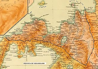 Misamis (province) - Map of Misamis province in 1899