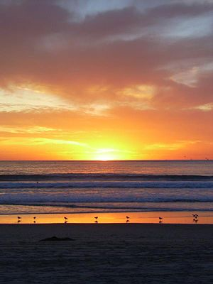 Mission Beach, San Diego - Mission Beach sunset