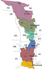Filemississippi Valley Division Us Army Corps Of Engineers - Us-corps-of-engineers-district-map