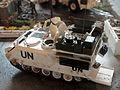 Model van een UN APC op een maquette, foto 1.JPG