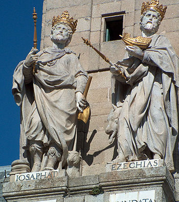 Statues of Josaphat and Ezechias on the Monast...