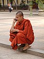 Monk on Cell Phone in Cambodia.jpg