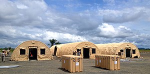 Ebola virus epidemic in Liberia - The 25-bed Monrovia Medical Unit was constructed for health care workers supporting Operation United Assistance.