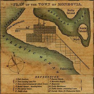 Montserrado County - Early plan for Monrovia