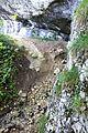Mont-la-Ville, Abri sous roche du Mollendruz, accès à l'abri.jpg