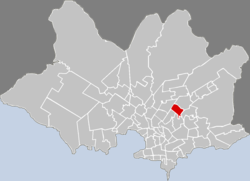 Location o Ituzaingó in Montevideo
