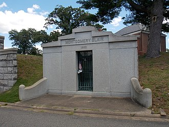 Montgomery Blair - The Montgomery Blair mausoleum in Rock Creek Cemetery