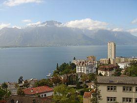 Montreux: Blick zum Chablais