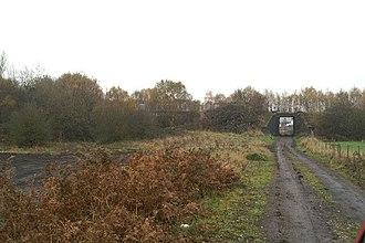 Manchester and Wigan Railway - A bridge of the disused line west of Platt Bridge