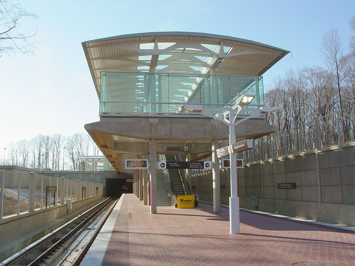Racks By The Tracks >> Morgan Boulevard station - Wikipedia