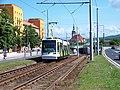 Most, tř. Budovatelů, tram Škoda Astra u zastávky Zimní stadion.jpg
