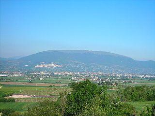 Monte Subasio peak in the Apennines