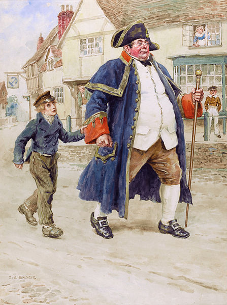 File:Mr Bumble and Oliver Twist, by Charles Edmund Brock.jpg