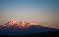 Mt. Ruapehu daybreak from the Officers' Mess, Waiouru, New Zealand, 24th. Nov. 2010 - Flickr - PhillipC.jpg