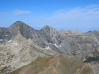 Blanca Peak - View of Blanca Peak (left of center) from Mt. Lindsey
