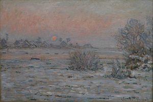 Museum of modern art André Malraux - MuMa - Image: Mu MA Monet Soleil d'hiver à Lavacourt