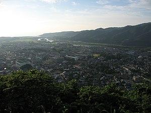 Murakami, Niigata - Murakami City, seen from the castle ruins on Oshiroyama