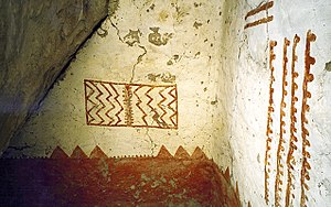 Cliff Palace - Image: Mural 30, Cliff Palace, Mesa Verde