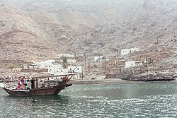 The village Bukha on the Musandam peninsula