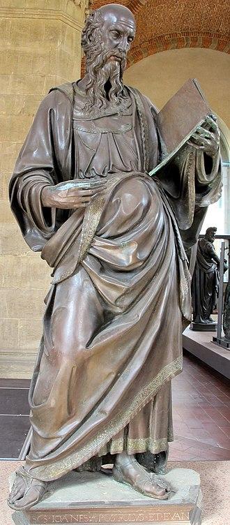 Saint John the Evangelist (Baccio da Montelupo) - Image: Museo di orsanmichele, baccio da montelupo, s. giovanni evangelista 03
