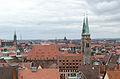Nürnberg, Blick von der Burg auf St. Sebald, 001.jpg
