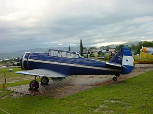 "North American NA-16 - NA-16-2A/NA-42 ""FAH-21"" displayed outside at the Honduras Air Museum at Toncontín"