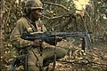 NARA 111-CCV-345-CC37981 25th Infantry Division soldier spraying tree line with M60 fire Operation Cedar Falls 1967.jpg
