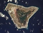 NASA orbital photo of Malden Island