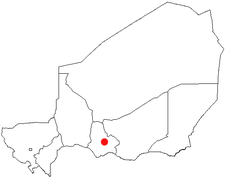 Location of Mayahi in Niger