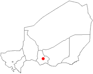 Mayahi - Location of Mayahi in Niger