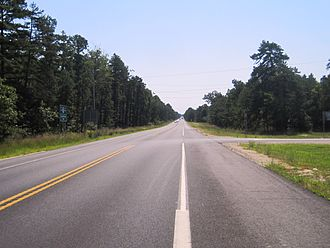 New Jersey Route 72 - Typical view of Route 72 through the Pine Barrens