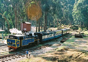 Nilgiri Mountain Railway - Image: NMR train at Ketti 05 02 26 75